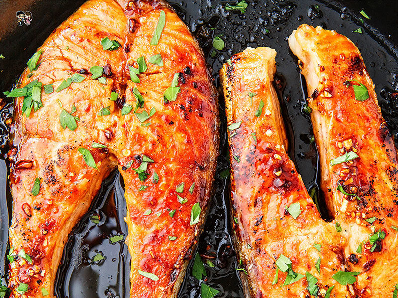 Easiest Salmon Steak Dinner