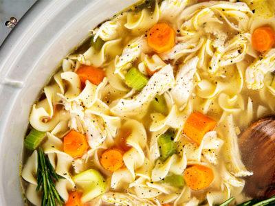 Crockpot Chicken Noodle