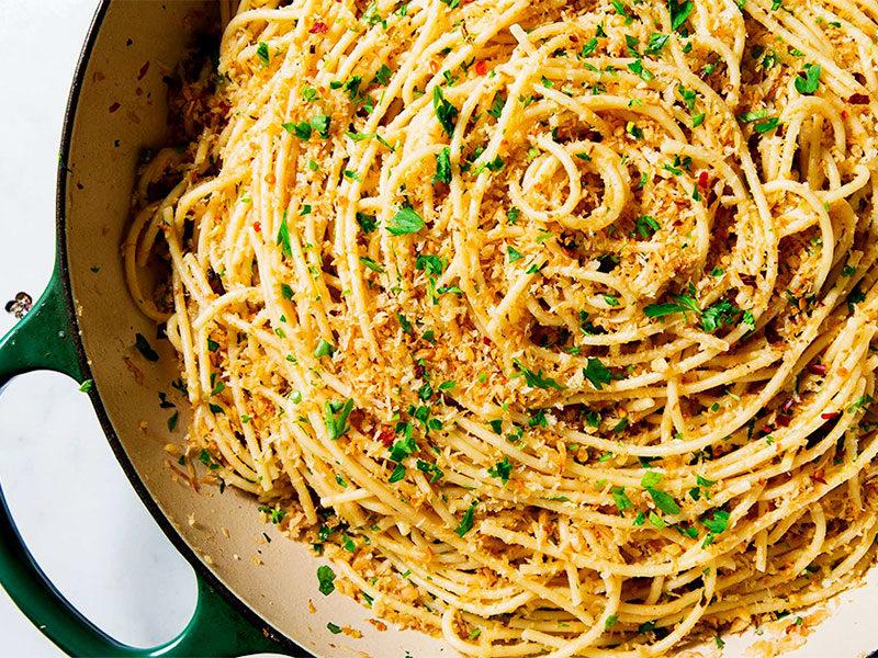 Yummy Garlic Spaghetti